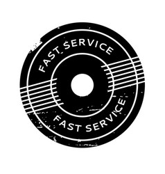 Fast service rubber stamp vector