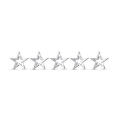 Five silver stars rating or quality symbol vector