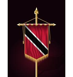 Flag Trinidad and Tobago Festive Vertical Banner vector