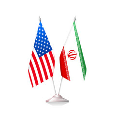 Flags of usa and iran vector