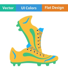 Flat design icon of football boots vector image
