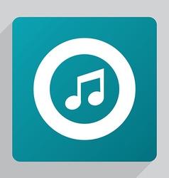 flat music icon vector image
