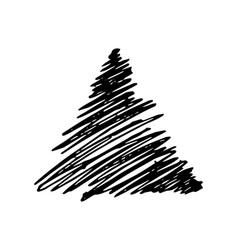 Hand drawn pencil scribble triangle vector