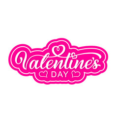 hand lettering valentines day vector image
