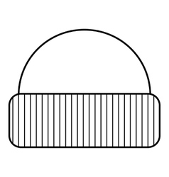 Hat icon outline style vector image