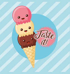 Ice cream image vector
