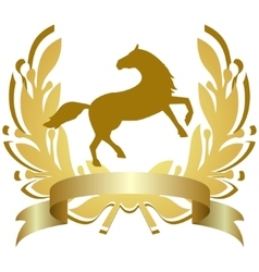 Icon with a horse vector