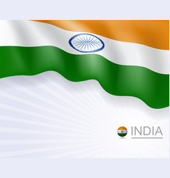 indian flag design banner and background vector image