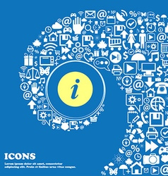 Info icon Nice set of beautiful icons twisted vector