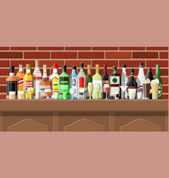 interior pub cafe or bar vector image