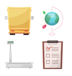 isolated object of goods and cargo sign set of vector image