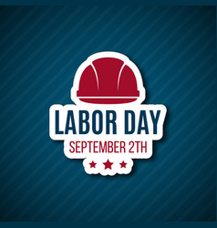 labor day paper sticker vector image