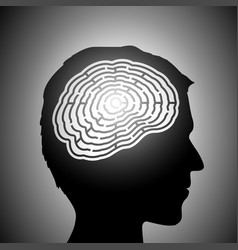 labyrinth in a head vector image