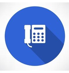 Landline phone vector image