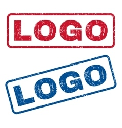 Logo rubber stamps vector