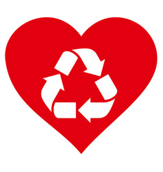 Love recycle icon vector