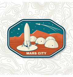 mars city logo badge patch vector image