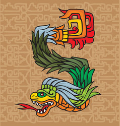 Mayan dragon vector