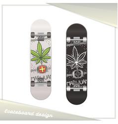 Medical marijuana skateboard seven vector