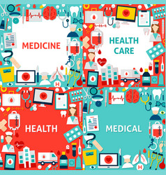 medicine paper templates vector image
