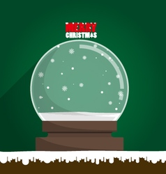 Merry Christmas empty snow globe vector