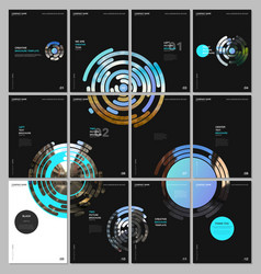 minimal brochure templates with blue colorful vector image