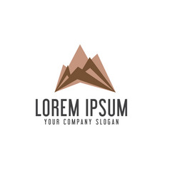 modern mountain logo design concept template vector image