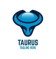 modern taurus logo vector image