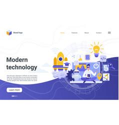 Modern technology concept landing page innovative vector