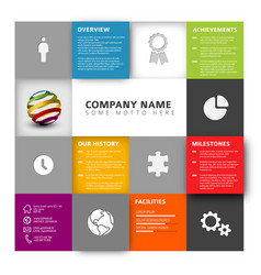 Mosaic company profile template vector