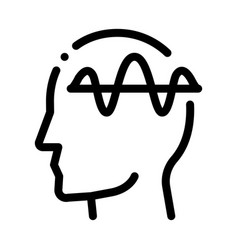 Nervous system head biohacking icon vector