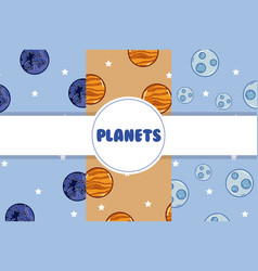 Planets background cartoons vector