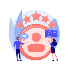 Profile rating concept metaphor vector