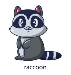 raccoon icon cartoon style vector image