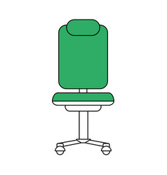 Rolling chair icon vector