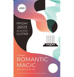 romantic elegant gig poster vector image
