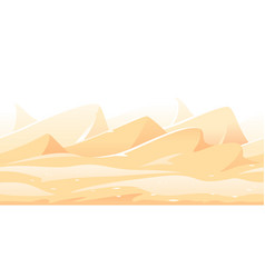 Sand dunes game background vector