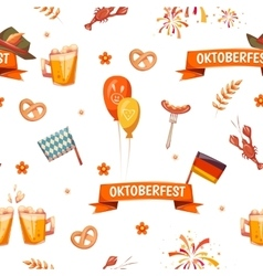 Seamless pattern with oktoberfest celebration vector