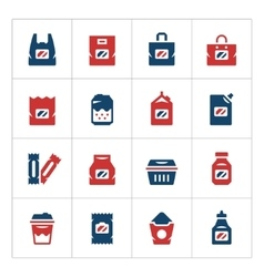 Set color icons of package vector image