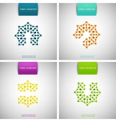 Set of colored tech patterns vector