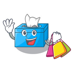 Shopping cartoon tissue box in the restaurant vector