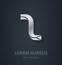 Silver logo Letter Z elegant font Template for vector