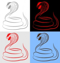 snake cobra set vector image