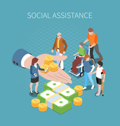 Social assistance isometric composition vector