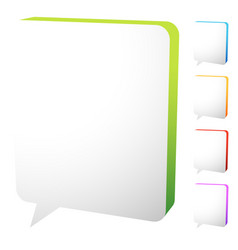 speech bubble templates with tall space eps 10 vector image