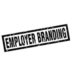 square grunge black employer branding stamp vector image