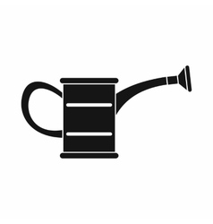 The watering can icon black simple style vector image