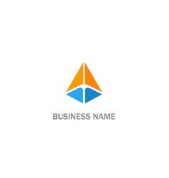 triangle prism colored company logo vector image