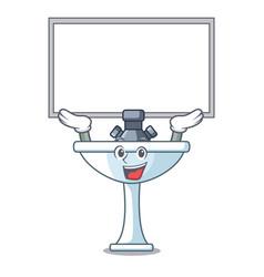 Up board cartoon sink in kitchen room vector