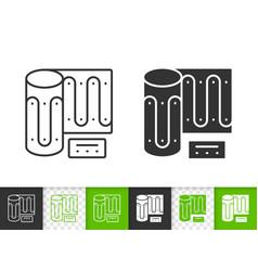 Warm floor simple black line icon vector